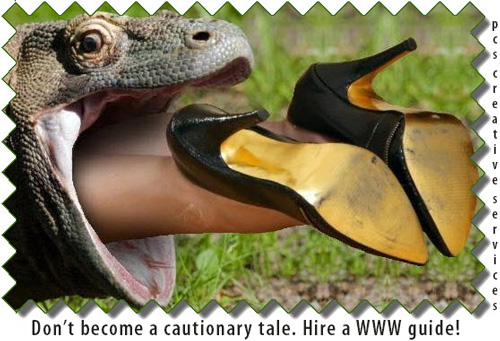 image of lizard swallowing a woman by andromeda111 at deviantart, don't become a cautionary tale hire a www guide pcs creative services