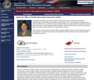 HIG website screen shot