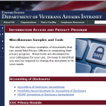 Privacy Office Samples and Tools webpage