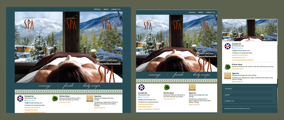 Site Project: Mountainside Spa