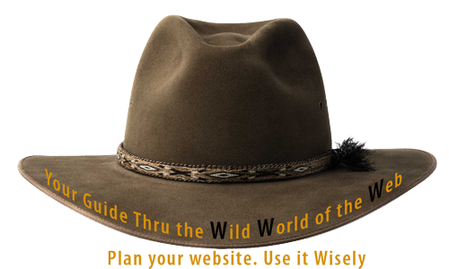 Guide hat - your guide through the wild world of the web - plan your website use it wisely