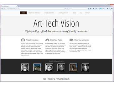 Art-Tech Vision HTML5 Site