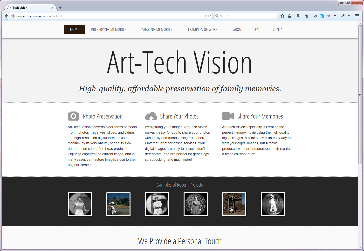 Site Project: Art-Tech Vision