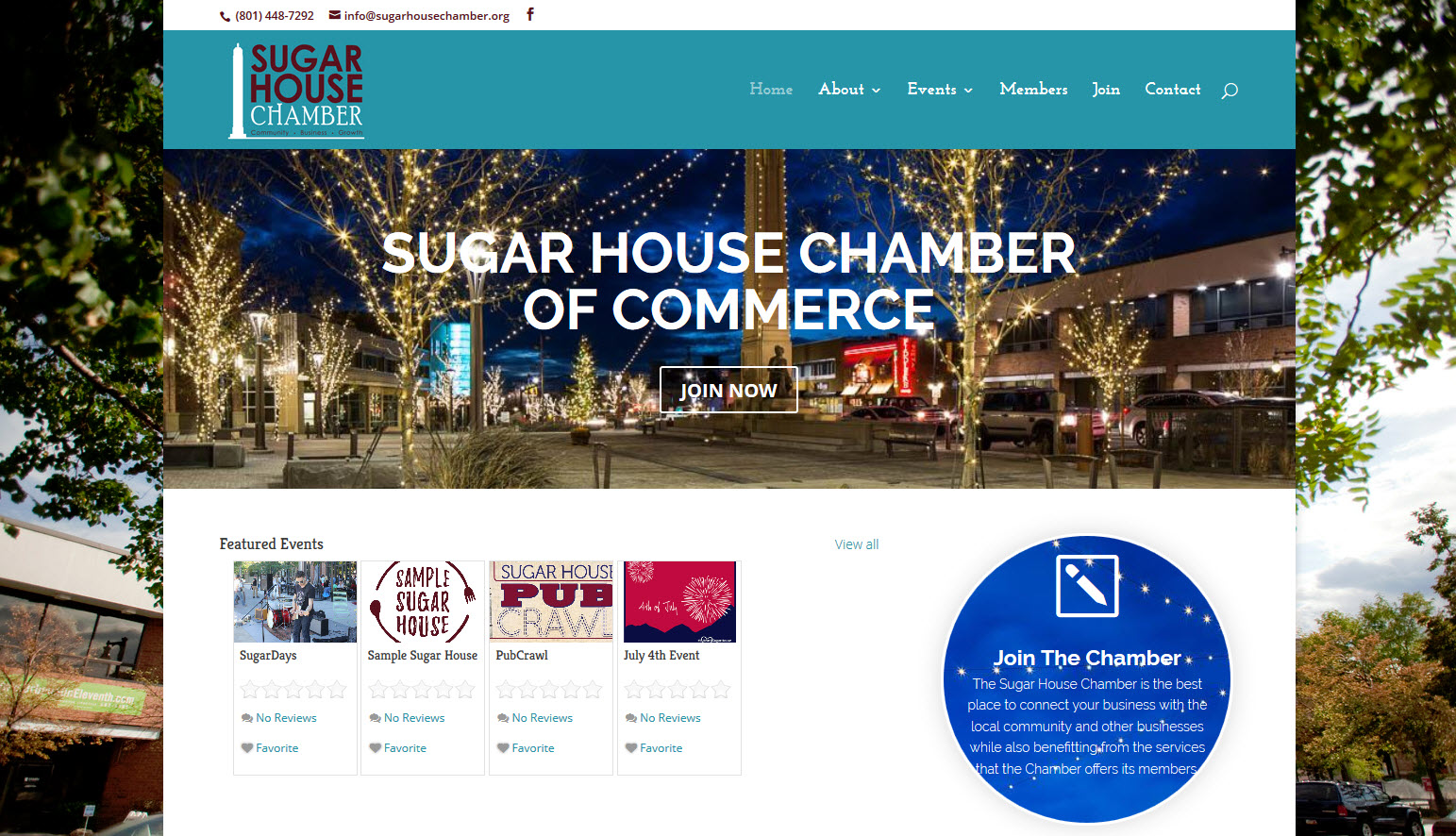 Sugar House Chamber of Commerce Sample Site