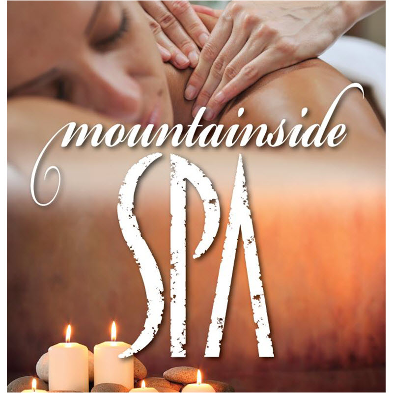 example branded graphic pop up banner for Mountainside Spa