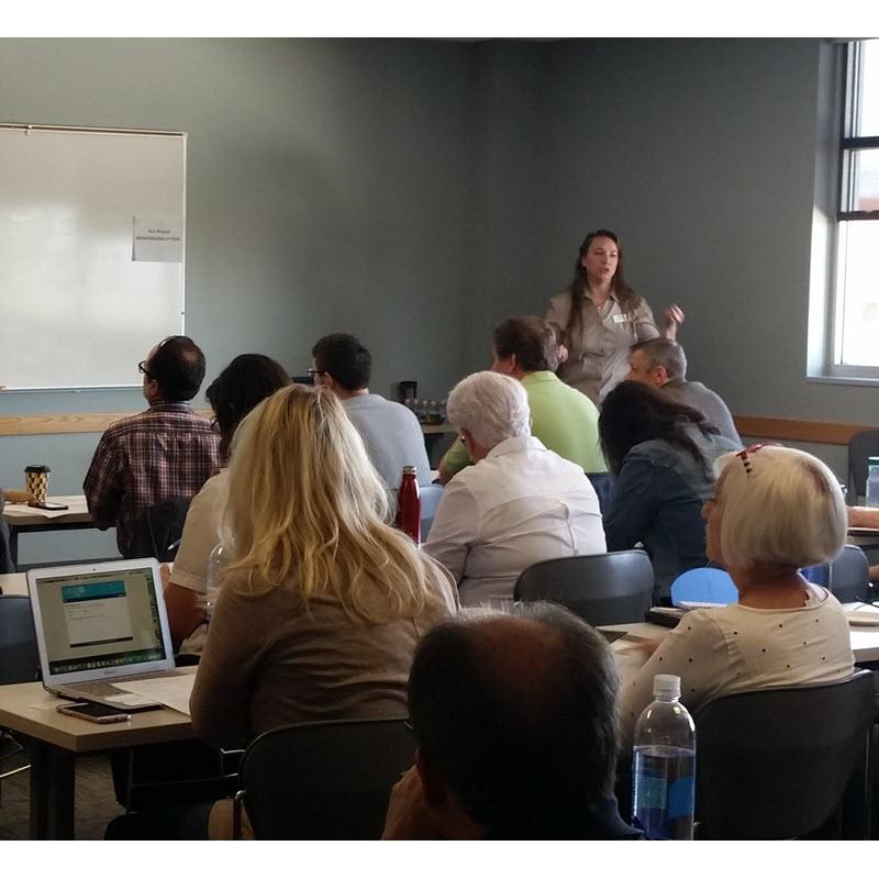 Paula Sageser at a training event