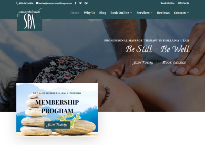 Mountainside Spa Website