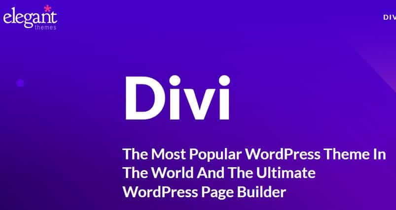 Why Divi is my Go To Theme
